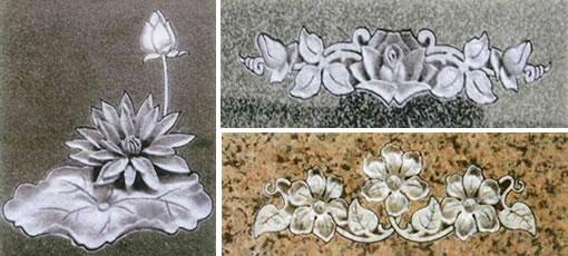 花立体彫刻